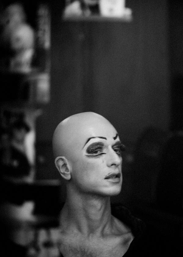 "Gesher Theater's lead actor Sasha Demidov. ""Gesher's backstage / 2008"""