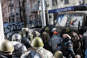 Confrontation on the Instytutska street. 18.02.2014.
